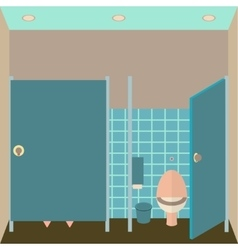 Toilet interior  lavatory in vector