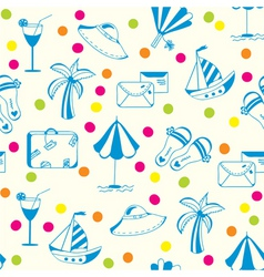 Vacation travel pattern vector