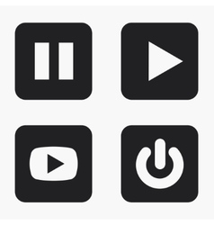 Modern play icons set vector
