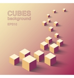 Isometric cubes background vector