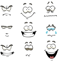 Comics face vector
