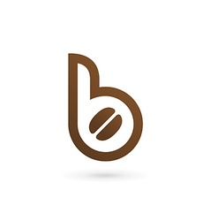 Letter b coffee logo icon design template elements vector
