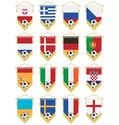 football flag pennants vector image