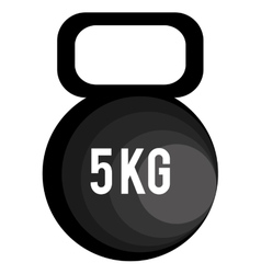 Black gym dumbbell graphic vector