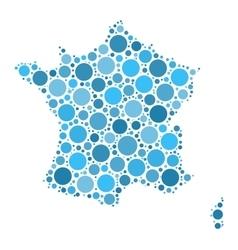 France map mosaic of circles vector