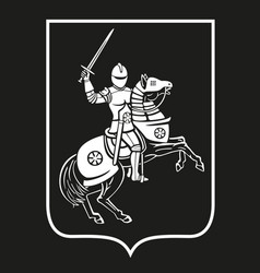 A knight on horseback vector