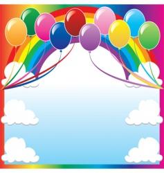 balloon background vector image vector image