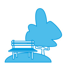 Chair in the park vector