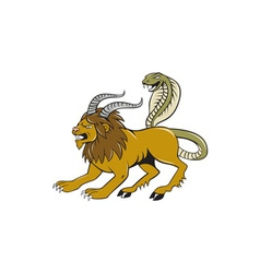 Chimera attacking side cartoon vector