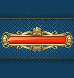 classic golden banner vector image vector image