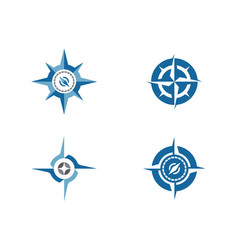 Compass logo template icon vector