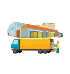 Ddelivery Equipment Warehouse vector image