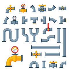 Details pipes different types collection of water vector