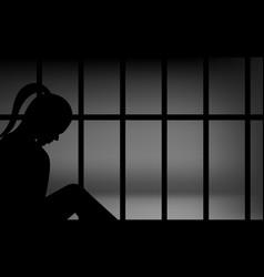 Female in prison vector