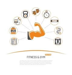 Fitness and Gym Concept vector image
