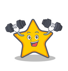 Fitness star character cartoon style vector