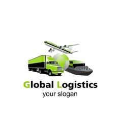 Global logistic logo vector