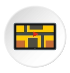 GPS navigation icon flat style vector image