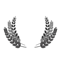 grayscale wheat branches icon image design vector image