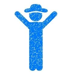 Happy gentleman grainy texture icon vector