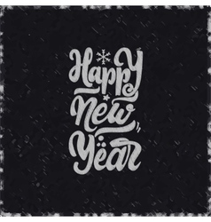 Happy new year 2017 chalk lettering text vector