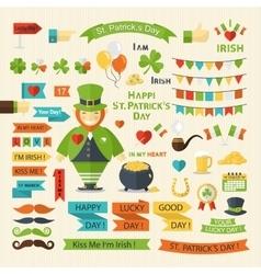 Happy St Patricks Day set vector image vector image