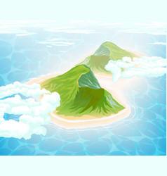 Island in ocean aerial view vector