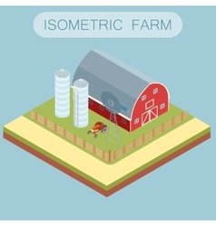 Isometric farm banner vector