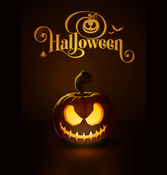 Jack o lantern dark scary rag-doll vector