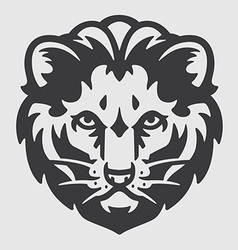 Lion head logo mascot emblem vector