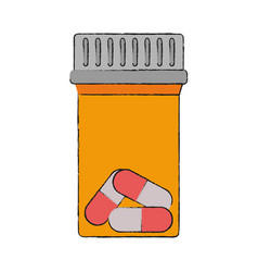 Medicine bottle isolated vector