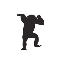Monkey silhouette vector image vector image