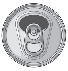 Opened can top vector