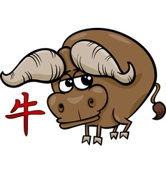 Ox chinese zodiac horoscope sign vector