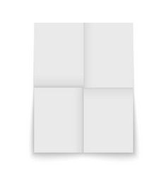 Paper sheet folded and isolated vector