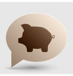 Pig money bank sign brown gradient icon on bubble vector
