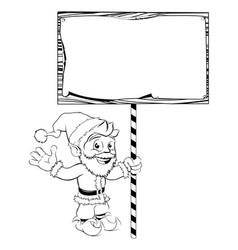 santa claus holding sign vector image