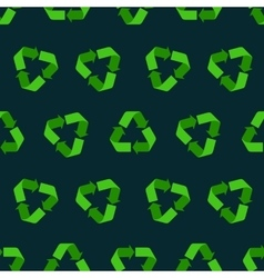 Seamless flat recycling sign pattern for vector image