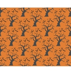 Seamless halloween trees backgrounds vector image