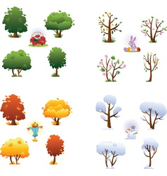 Set of four seasons vector image vector image