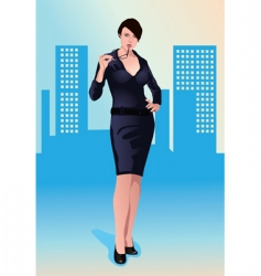 sexy businesswoman vector image vector image