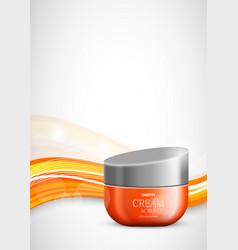 Skin moisturizer cosmetic light design template vector