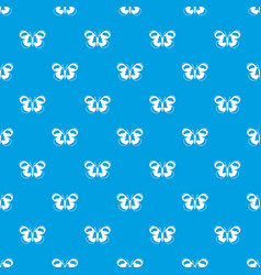 Spotted butterfly pattern seamless blue vector