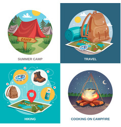 Summer travel design concept vector