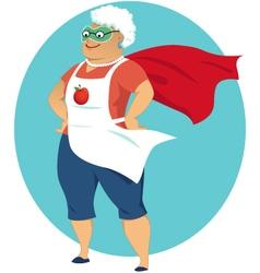 Super grandma vector image