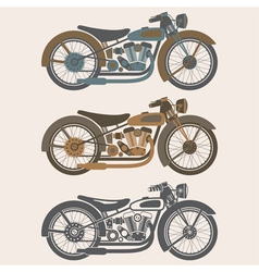 Vintage motorcycle set graphic design template vector