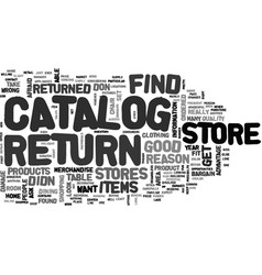 What you can expect from catalog return stores vector