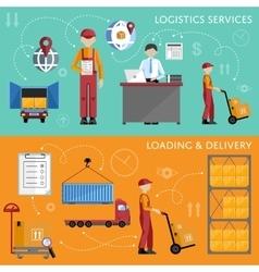 Warehouse process infographics vector