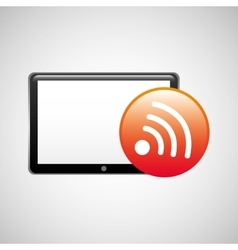 Tablet technology icon wifi internet vector
