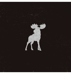 Moose icon letterpress effect retro moose vector